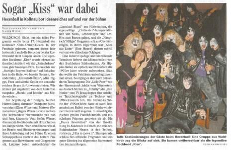 Pressebericht der Badischen Zeitung vom 23.02.2009