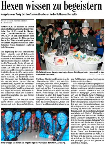 Pressebericht der Badischen Zeitung vom 07.03.2011