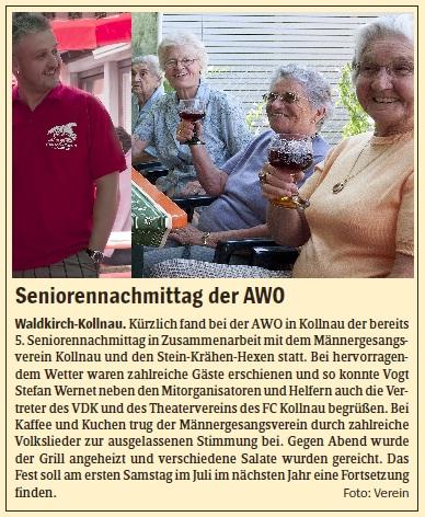 Pressebericht des Elztäler Wochenberichts vom 07.07.2011