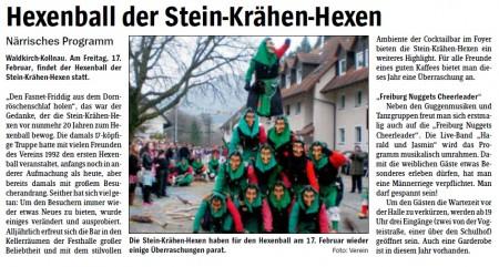 Vorbericht des Elztäler Wochenberichts vom 09.02.2012