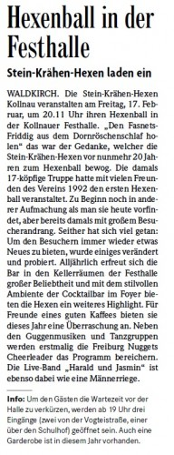 Vorbericht der Badischen Zeitung vom 15.02.2012