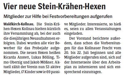 Pressebericht des Elztäler Wochenberichts vom 10.05.2012