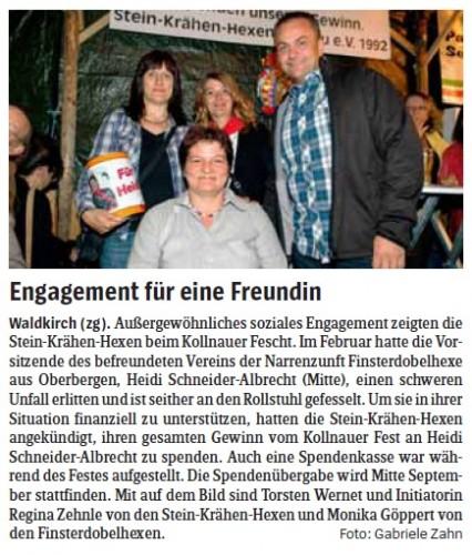 Pressebericht des Elztäler Wochenberichts vom 26.07.2012