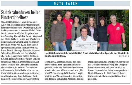 Pressebericht der Badischen Zeitung vom 19.09.2012
