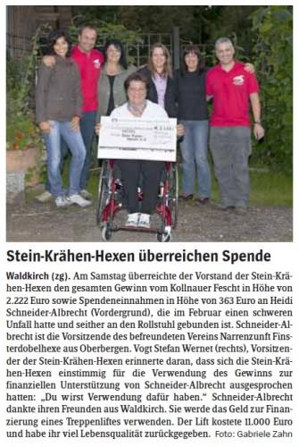 Pressebericht des Elztäler Wochenberichts vom 20.09.2012