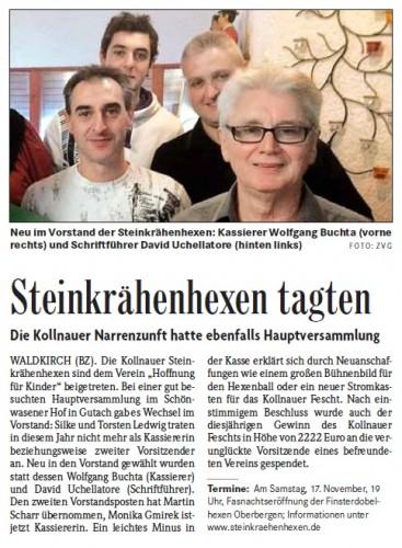 Pressebericht der Badischen Zeitung vom 15.11.2012