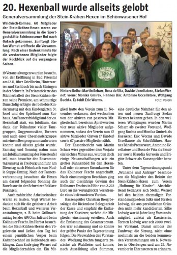Pressebericht des Elztäler Wochenberichts vom 15.11.2012