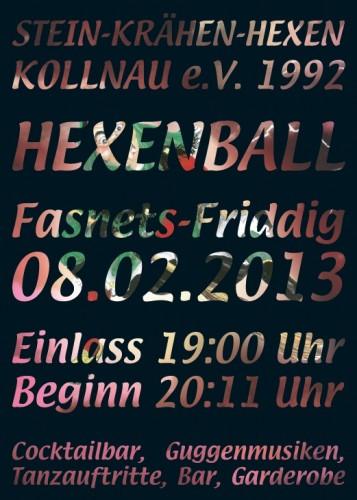 Flyer Hexenball 2013