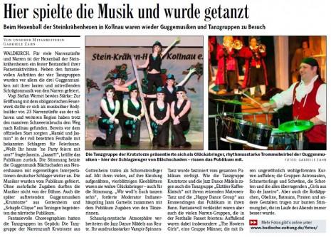 Pressebericht der Badischen Zeitung vom 11.02.2013