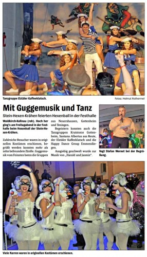 Pressebericht des Elztäler Wochenberichts vom 14.02.2013