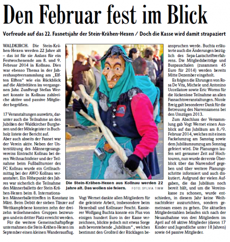 Pressebericht der Badischen Zeitung vom 18.11.2013