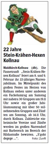Vorbericht des Elztäler Wochenberichts vom 30.01.2014