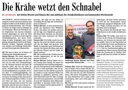 Vorbericht der Badischen Zeitung vom 04.02.2014