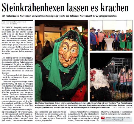 Pressebericht der Badischen Zeitung vom 10.02.2014