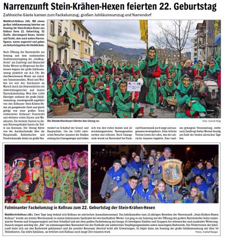 Pressebericht des Elztäler Wochenberichts vom 13.02.2014