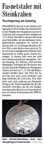 Pressebericht der Badischen Zeitung vom 20.02.2014