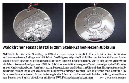 Pressebericht des Elztäler Wochenberichts vom 20.02.2014