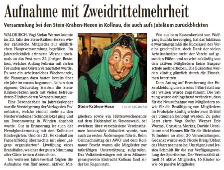 Pressebericht der Badischen Zeitung vom 05.12.2014
