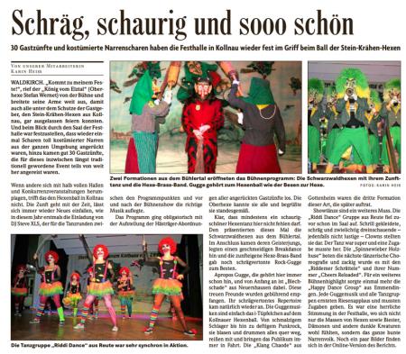 Pressebericht der Badischen Zeitung vom 16.02.2015
