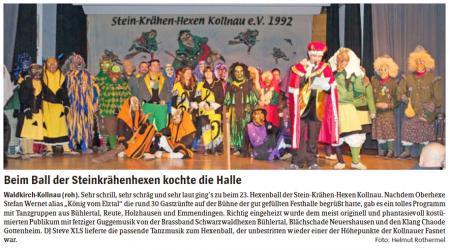 Pressebericht des Elztäler Wochenberichts vom 19.02.2015