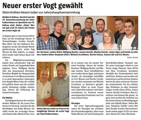 Pressebericht des Elztäler Wochenberichts vom 03.12.2015