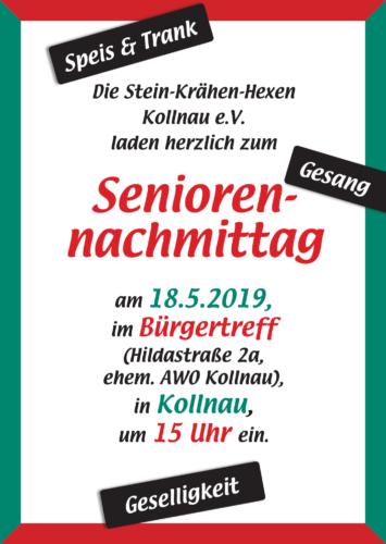 Plakat zum Seniorennachmittag 2019