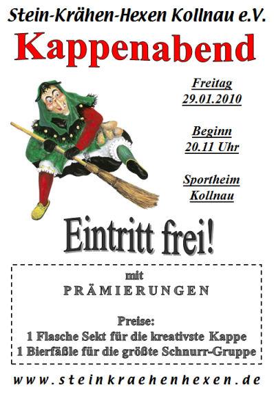 Kappenabend der Stein-Krähen-Hexen am 29.02.2010
